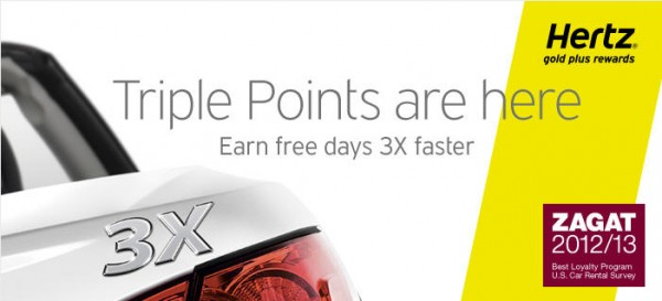 hertz triple points promotion