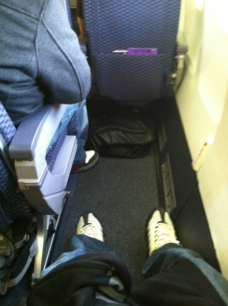 united economy plus exit row leg room