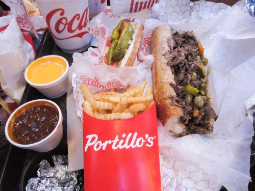 portillos italian beef chicago hot dog