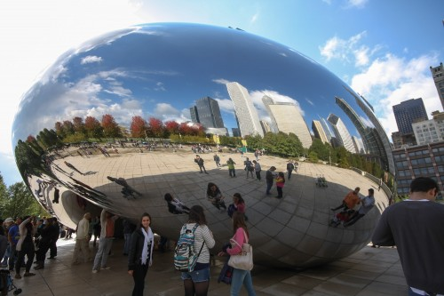 the cloud gate chicago bean