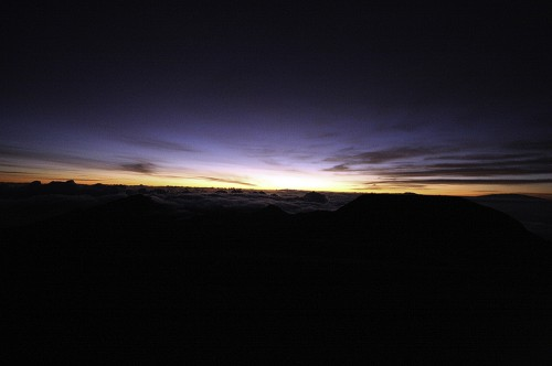 Haleakala, just before sunrise