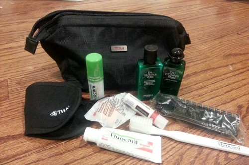New Tumi amenity kit