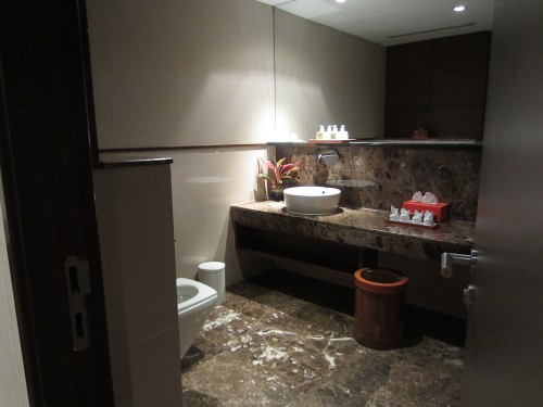 Spacious lounge bathroom
