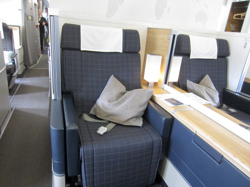 Swiss First Class seat on A330