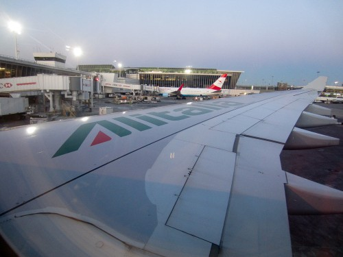 View of Austrian Airlines from the gate