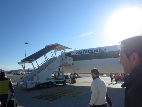 Bused to our aircraft