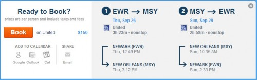 Click the picture to be taken to the United booking page via Hipmunk.com!