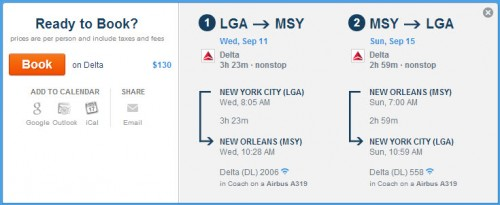 Click the picture to be taken to the Delta booking page via Hipmunk.com!