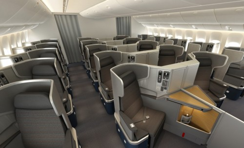 Systemwide Upgrades can get you from Coach to here - AA 777 New Business Class