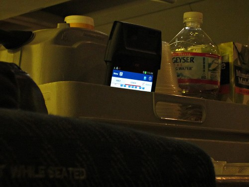Flight Attendant's Galaxy Note