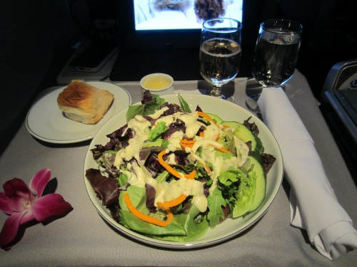 american airlines first class salad