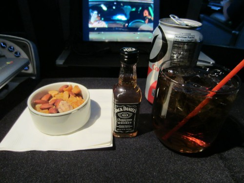 american airlines first class warm nuts
