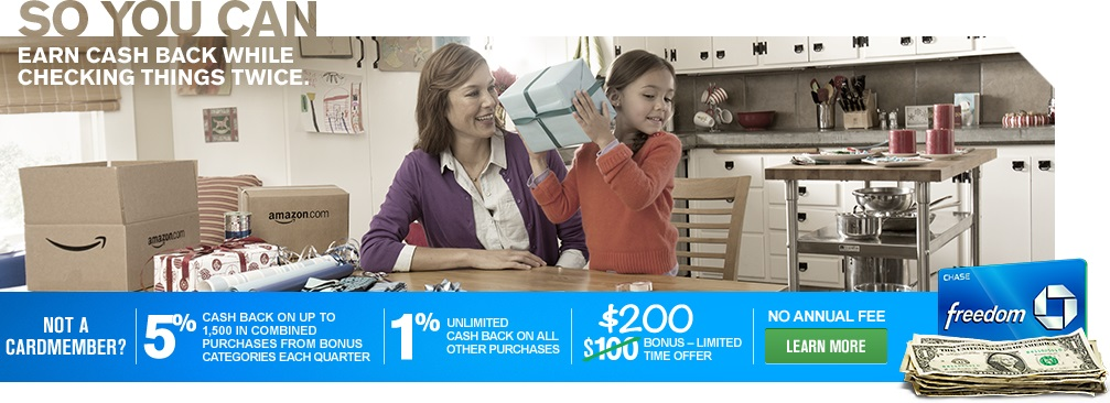 Chase Freedom First Quarter 2014 Bonus Categories Announced + Increased Sign Up Bonus