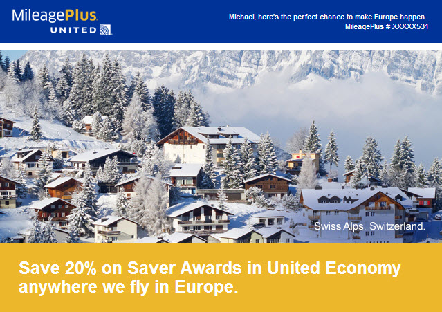 United Award Flights to Europe for 48,000 Miles