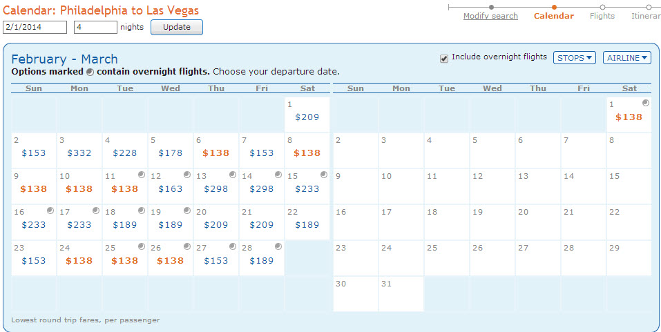 FARE ALERT: Philadelphia – Las Vegas (and vice versa) – As Low As $128 Round Trip