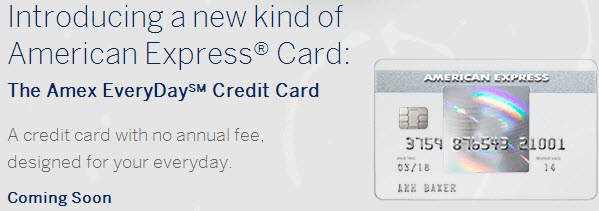 New Credit Card: American Express EveryDay & EveryDay Preferred