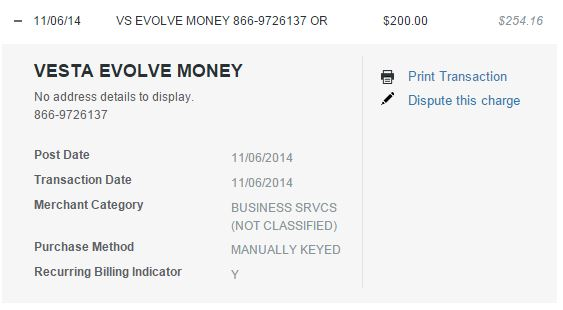 Evolve payment posting as a purchase on Discover