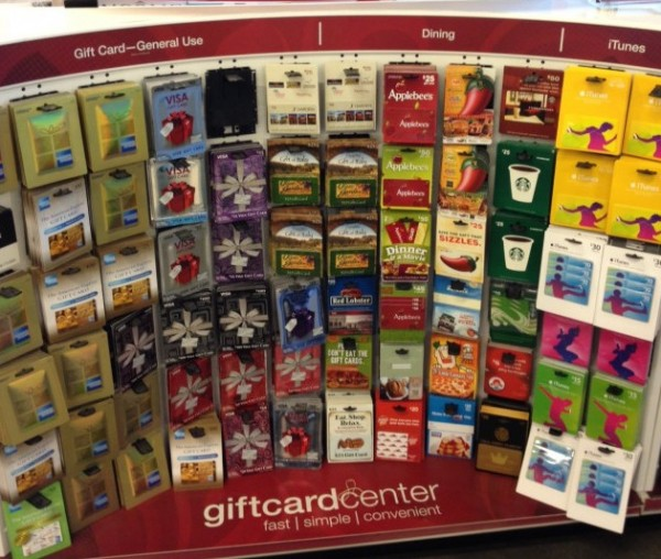 Grocery stores carry several different gift cards